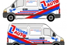 Boceto rotulación furgoneta Valverauto